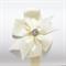 Embellished Grosgrain Ribbon Bow Headband - Ivory