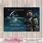 Halo Personalised Birthday Invitation - YOU PRINT