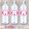 Pamper Spa Party Personalised Water Bottle Labels - YOU PRINT