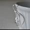 Sterling Silver Curved Hoop Earrings.