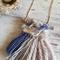 mini woven - Grey/blue necklace