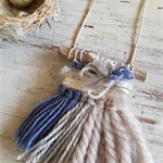 mini woven - Grey/blue necklace