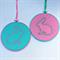 Mint Bunny hoop art