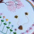 Rainbow Garden hoop art