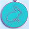 Mint Bunny hoop art