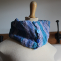 Waves - Wool Scarflette, Neck Warmer