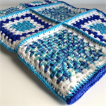 Crochet Baby Blanket | Boy | Pure Wool | Blue | Turquoise | Gift | Ready to Post