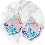 Snowflake art earrings – peach sunset by Next Romance Jewels Melbourne