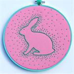 Pink Bunny hoop art