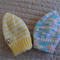 *Special * 2 beanies: Size 6-12 mths knitted Beanie: Girl, easy care, washable