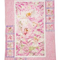 FLOWER FAIRIES PINK handmade quilt