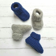 Made to Order - Stay On Booties - Hand Knitted - Pure Merino Wool