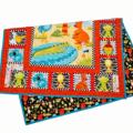 AUSSIE MATES ORANGE handmade quilt