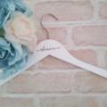wedding hanger; personalised hanger; coat hanger; wedding; budget hanger; bride