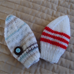*Special * 2 beanies: Newborn hand knitted Beanie; Boy, washable, easy care