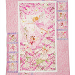 FLOWER FAIRIES PINK handmade quilt
