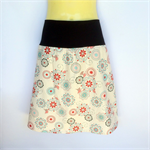Retro Pink Daisy Print A Line Skirt - ladies size 12-14 avail. geometric flower