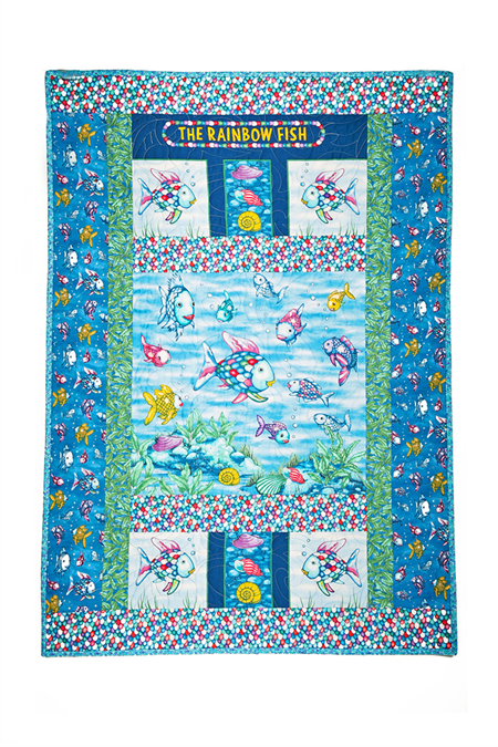 THE RAINBOW FISH handmade quilt