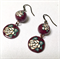 Handcrafted polymer clay earrings- aubergine roses
