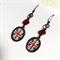 Altered Art Union flag photo earrings