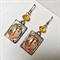 Altered Art Cuba photo earrings with sterling silver earring hooks