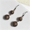 Handcrafted polymer clay earrings- black and gold