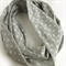 Grey and White Infinity Scarf