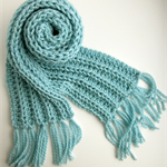 Powder Blue Knitted Scarf