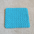 Set of 3 x Cotton crochet wash cloths Blue