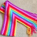 Handmade crochet Scarf - Rainbow