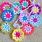 Crochet flower garland Rainbow