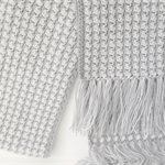 Handmade crochet Scarf - Grey and White