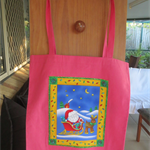 Unlined Tote Bag - with Christmas Print