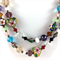 Cloisonné, crystal and glass beaded long necklace