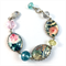 Floral Photobeads Bracelet with Crystals