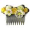 Sunshine Collage Bridal Comb, Wedding Comb, Collage Bridal Comb, Bridesmaid Hair