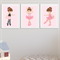 """Little Ballerina"" Children's Wall Art Prints - Set of 3"