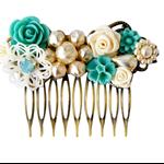 Floral Collage Bridal Comb, Bridal Comb, Collage Bridal Comb, Bridal Hair Comb,
