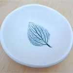 Ceramic leaf ring dish, ring bowl, ring holder. Ceramic bowl.