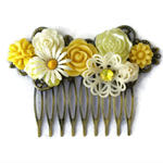 Sunshine Collage Bridal Comb, Wedding Comb, Collage Bridal Comb, Bridesmaid Hair