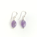 Amethyst and Sterling Silver Gemstone Earrings
