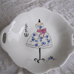 Hand painted Wedgwood dish