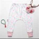 Pink Unicorn Baby Harem. Girls Baby Toddler Harems. Harem pants.