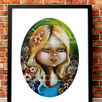 A3 Print - Flower Girl