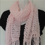 Pink scarf. hand knitted pink scarf. scarves. Winter accessory.