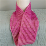 Pure Wool Infinity Scarf Loop Scarf Pink Mobius Warm Soft Winter Gift for Her