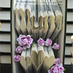 Mum and hearts - Folded book art keepsake for Mothers Day