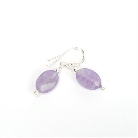 Amethyst and Sterling Silver Gemstone Earrings
