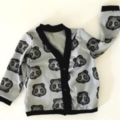 Grey Panda Retro Cardi