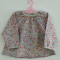 Girls long sleeved swing top, newborn to 5 years, winter floral blouse